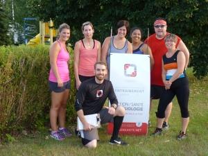 cardio, circuit, entraînement, workout, parc, Nicolet
